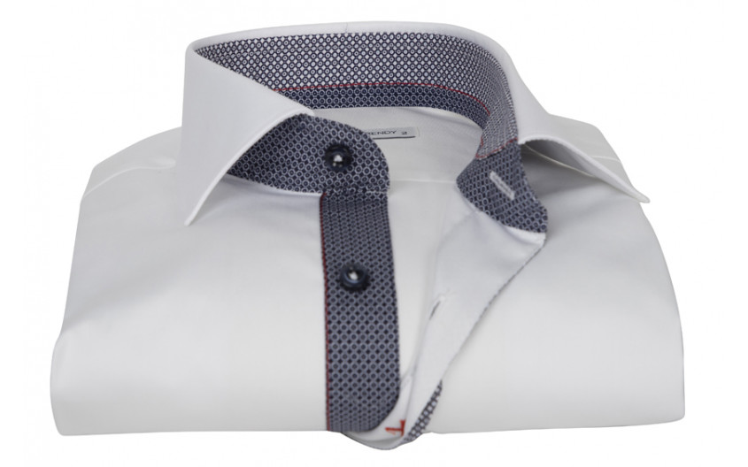 Chemise homme blanche gorge...