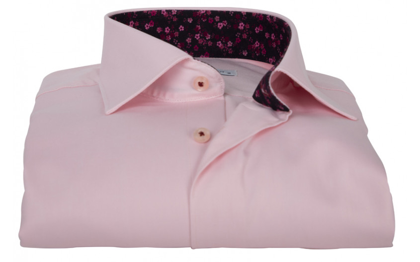 Chemise homme rose doublure...