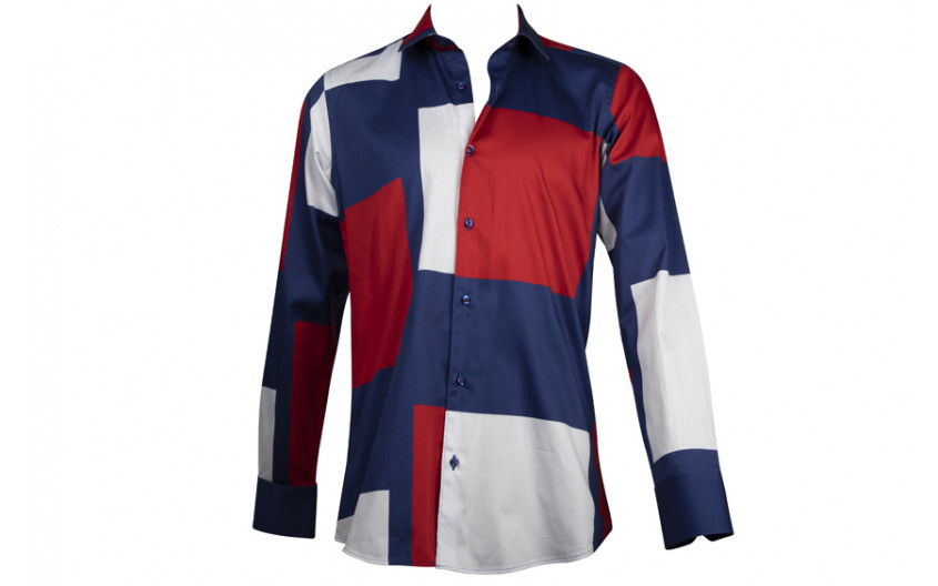 Chemise homme French patchwork