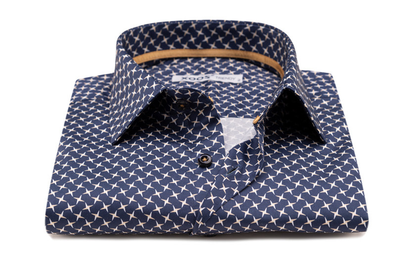 Chemise navy and beige star...