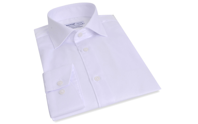 Chemise blanche col Italien...